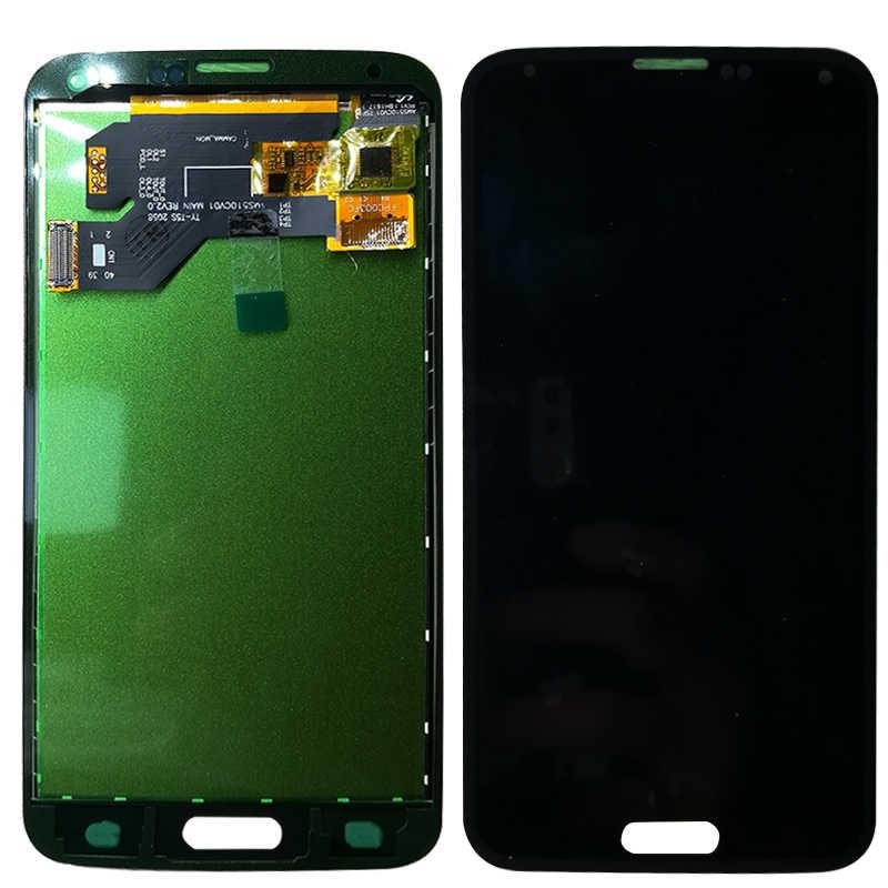 Szhaiyu LCD Display + Sentuh Layar untuk Samsung Galaxy S5 G900 G900T G900V G900A G900F Layar Sentuh Display LCD