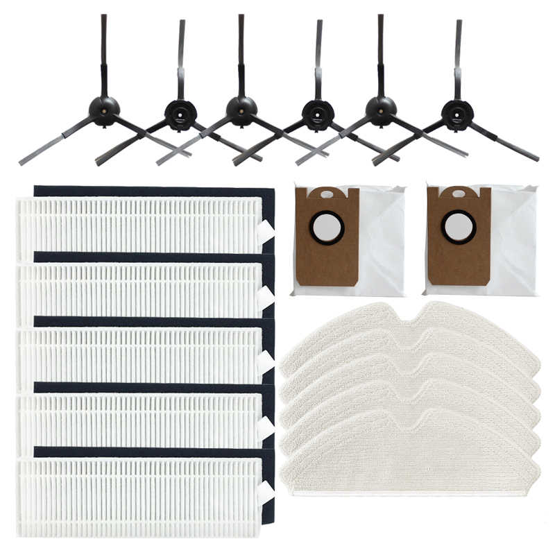 Side Brush Filter Replacement Kit For Proscenic M7 Pro Robot Vacuum Cleaner