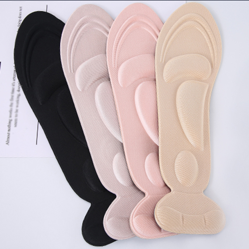 1 Pairs Heel Grips Insoles High Heel Thick Foam Cushion Pads for Shoes Too Big Anti-Slip Heel Protectors Inserts Liners image