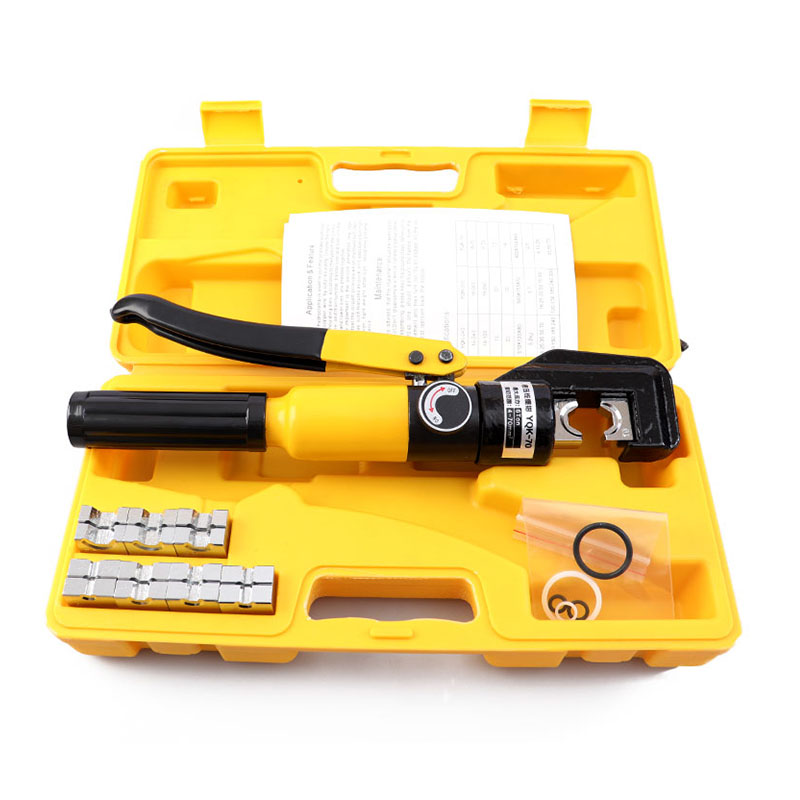 Hydraulic Cable Lug Crimper Tool YQK-70 12 AWG To 00 (2/0) Electrical Terminal Wire Crimping Plier Kit,Marked With AWG
