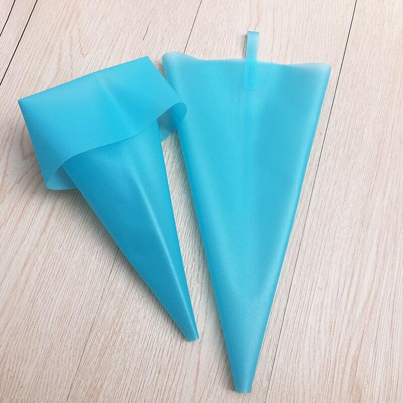 8/10/12/14/16/18 Polegada ferramentas de decoração do bolo reutilizável saco de pastelaria diy cupcake azul cozinha gadgets