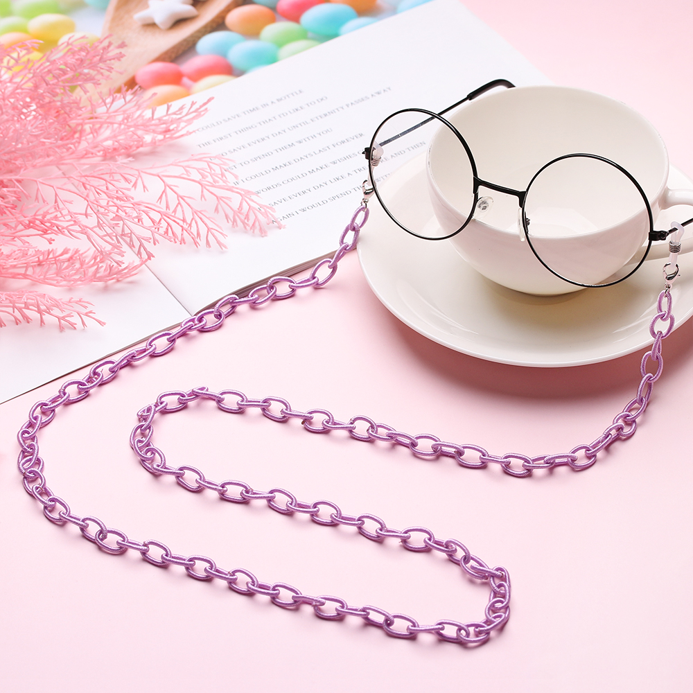 Fashion Nylon Candy Color Reading Glasses Glasses Chain Eye Wear Accessories Simple Style  Eyeglass Lanyard  Glasses Necklace