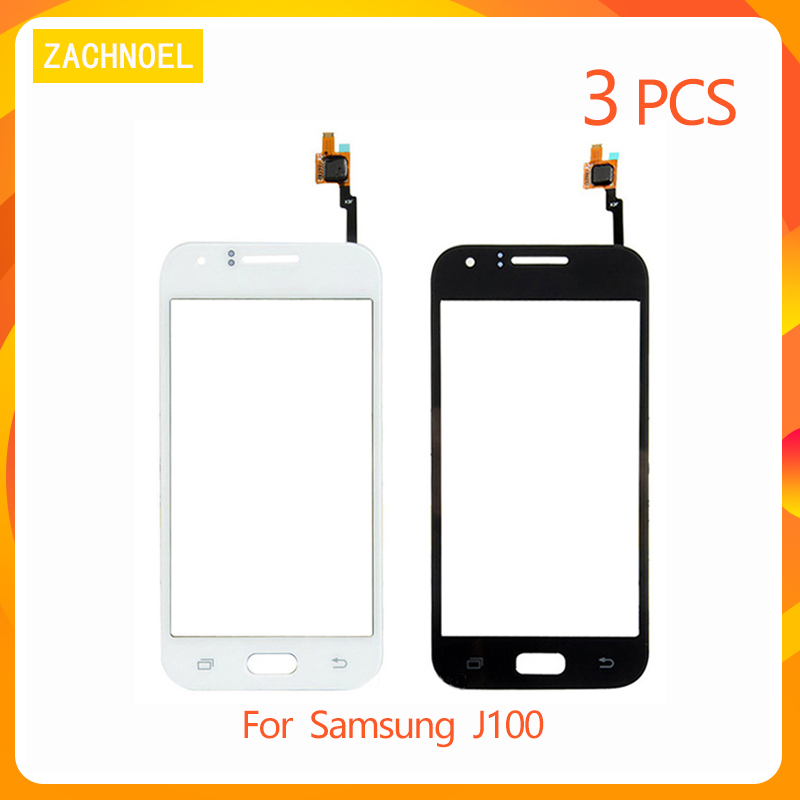 3pcs Touchscreen for Samsung Galaxy J1 2015 <font><b>J100</b></font> J100H J100F <font><b>Touch</b></font> <font><b>Screen</b></font> Digitizer Front Glass <font><b>Screen</b></font> Panel Lens Replacement image