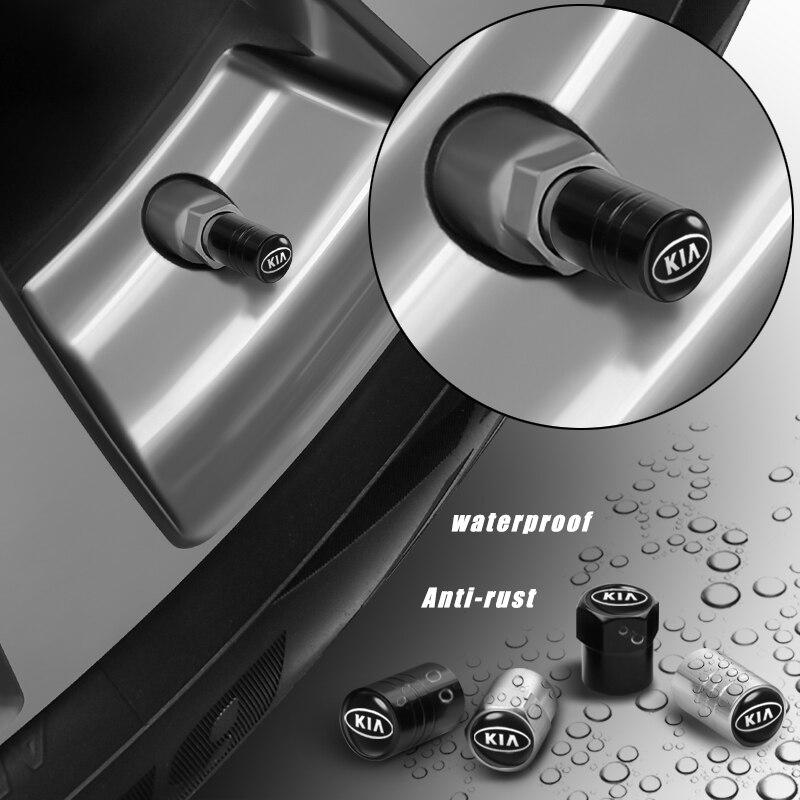 Автомобильный Стайлинг 4 шт. металлическое Колесо Крышки стержня вентиля шины Крышка для KIA Sportage Rio K2 3 4 K9 QL ОПТИМА Sorento Picanto KIA Ceed Форте