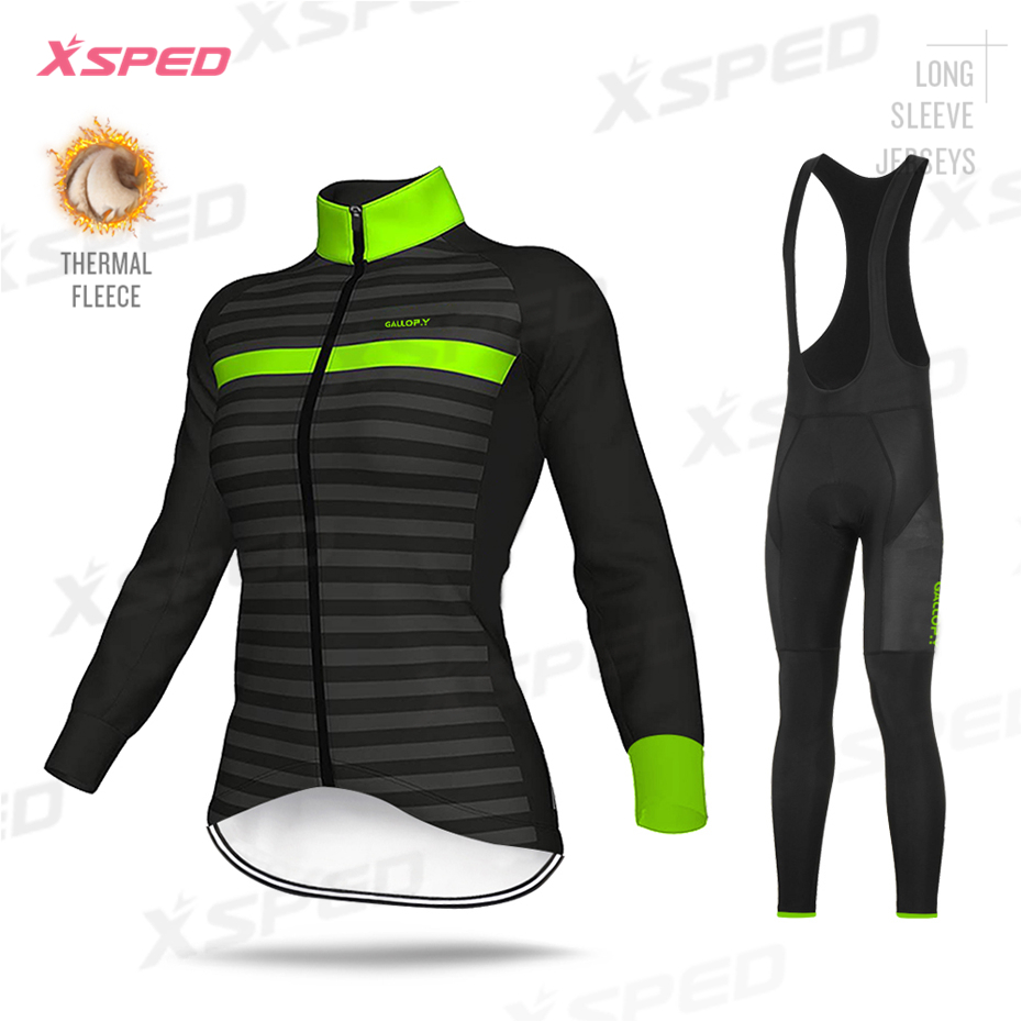 Pro Team ALEing Jacket Women Clothes 2019 Winter Cycling Clothing Thermal Fleece Long Sleeve Jersey Female Tights Road Bike Wear|Cycling Sets| |  - title=