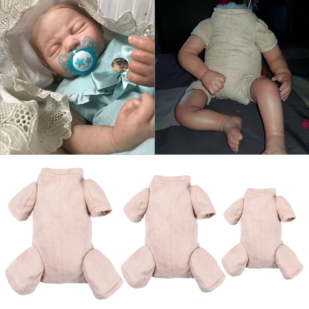 """22/"""" Reborn Baby Dolls Doe Suede Bodies for Newborn Doll Kits With 3//4 Limbs"""