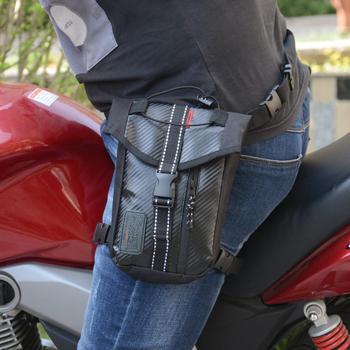 Riñonera para moto Oxford, resistente al agua, cintura baja, color negro