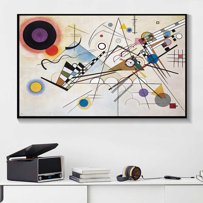 WASSILY KANDINSKY Abstract Wall Art Painting Prints and Posters Canvas Pictures For Living Room Decoration Art Picture No Framed