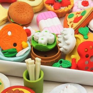 Image 2 - 20 takım/grup süper sıcak!!3D simülasyon meyve/gıda/hayvan/aracı/araba blister kart silgi/32 model choic için