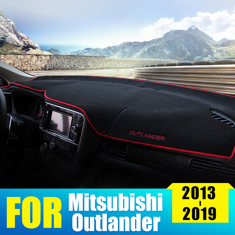 Car Dashboard Cover Mat Sun Shade Pad Instrument Panel Carpet For Mitsubishi Outlander 2013 2015 2016 2017 2018 2019 Accessories-in Car Stickers from Automobiles & Motorcycles