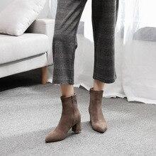 winter boots women western cowboyankle for chelsea high heelsAutumn Winter Warm Short Plush Slip  Snow Boots