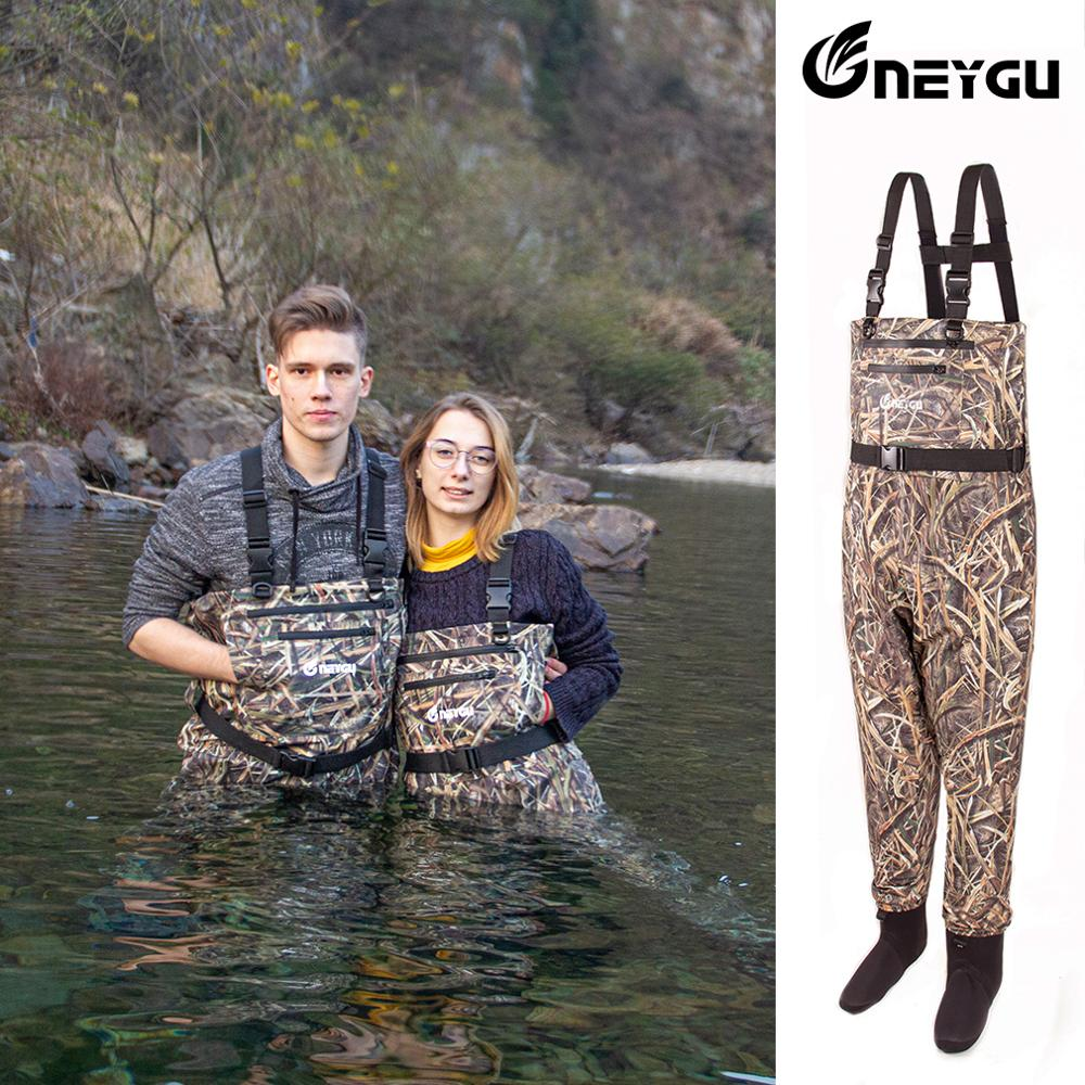 Waterproof Chest Fishing Waders , Breathable Rafting Waders With Stocking Foot , Hunting Pants For Men,for Muddy Hiking