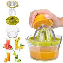 Presse-agrumes manuel multifonction 4 en 1, presse-agrumes Orange avec tasse à mesurer, presse-agrumes à main pour légumes et fruits