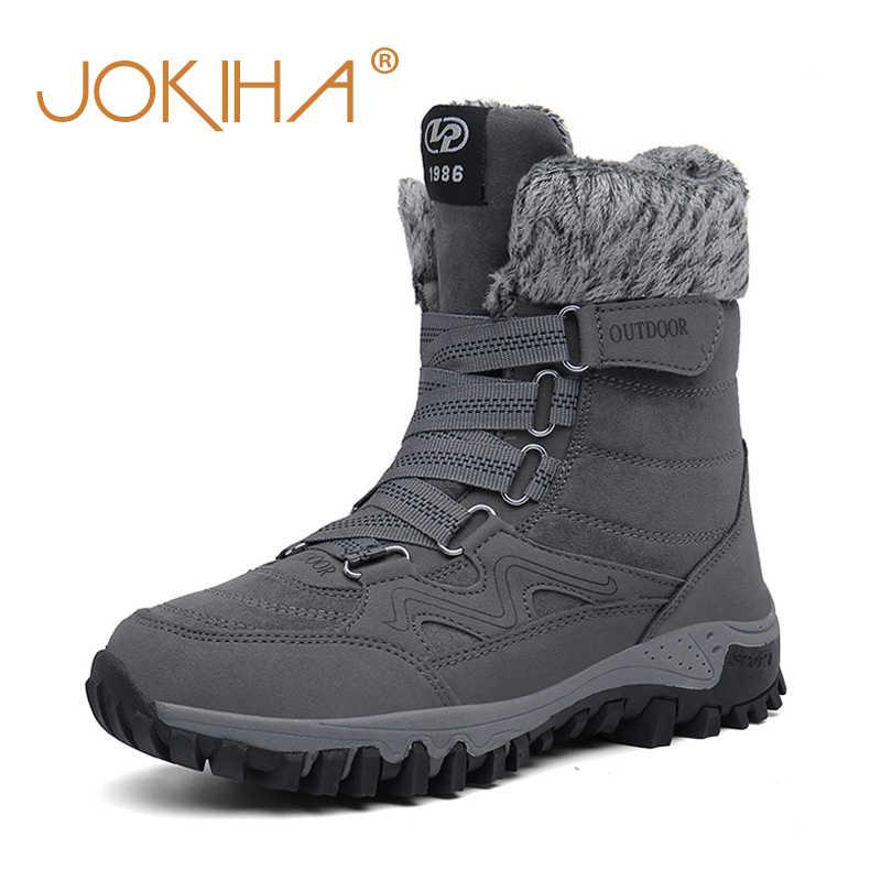2019 kış kadın kar botları inek süet bayan sıcak kar ayakkabıları kadın tam kürk peluş kaplı uzun çizmeler kalın alt ayakkabı kadın