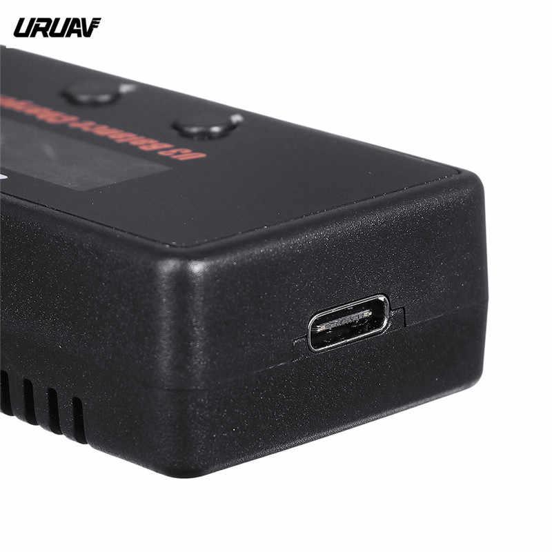 Dalam Saham Uruav U3 18W 2A/3A Tipe-C Battery Balance Charger untuk 2-3S lipo/Lihv/Hidup/Lilon Baterai untuk RC Racing Drone FPV MODEL S