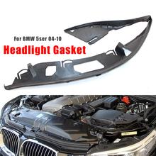 Headlight Lens Seal Gasket for BMW E60 5 Series 04-10 m5 63126934511 63126934512 Car Headlight Lens Shell Cover cheap VODOOL Work Lights CN(Origin) Left Right Side for BMW E60 63126934512 (Right) 63126934511 (Left) Rubber