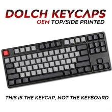 108 teclas pbt keycap preto cinza misto boneca, grosso perfil pbt para cherry mx interruptores teclado, adicionar mac chave chave,