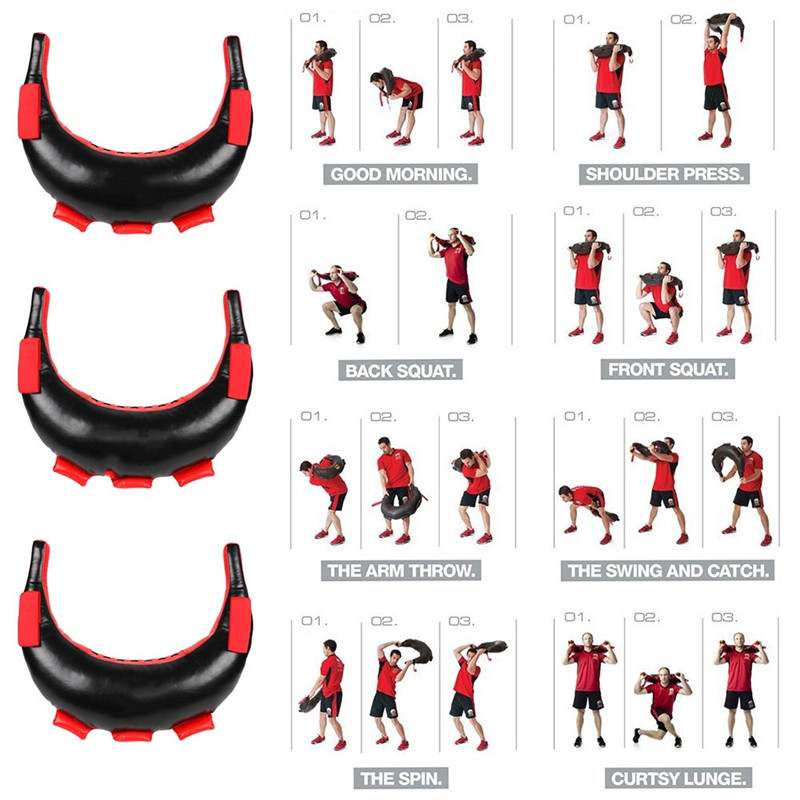 Weight Lifting Sandbag Boxing Fitness Workout Equipment Physical Training Exercises Power Bag not Include Sand