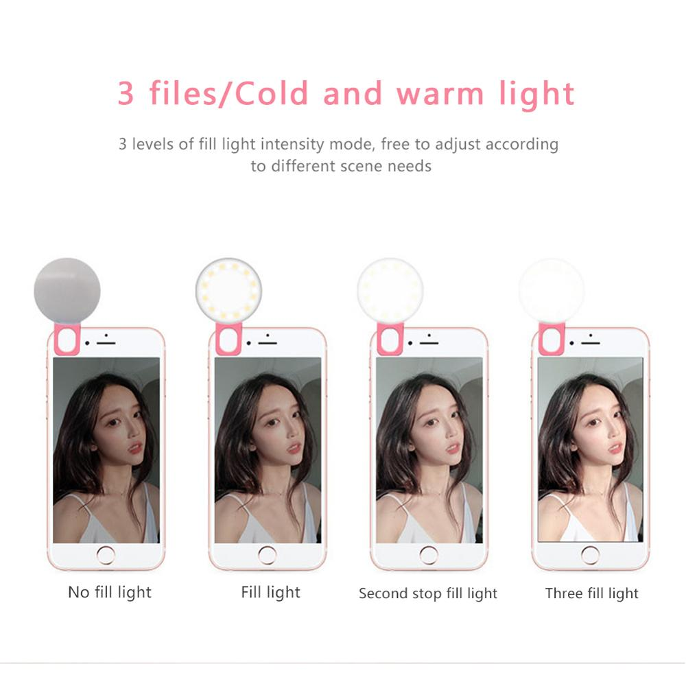 cheapest Mini Flash Fill Light 16 LEDs Fill Light 3 5mm Rechargeable Selfie Light for Mobile Phone Photography NC99