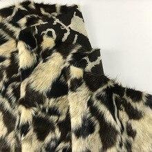 160*100 см бежевый черный кофе жаккардовая одежда искусственный Гладкий плюш искусственный мех Ткань для пальто жилет fausse fourrure tissu