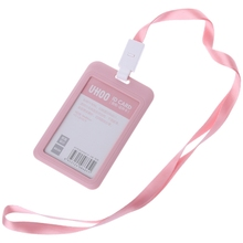 PP ID Card Holder Candy Colors Name Tag Exhibition Cards Business Badge Holder 634B