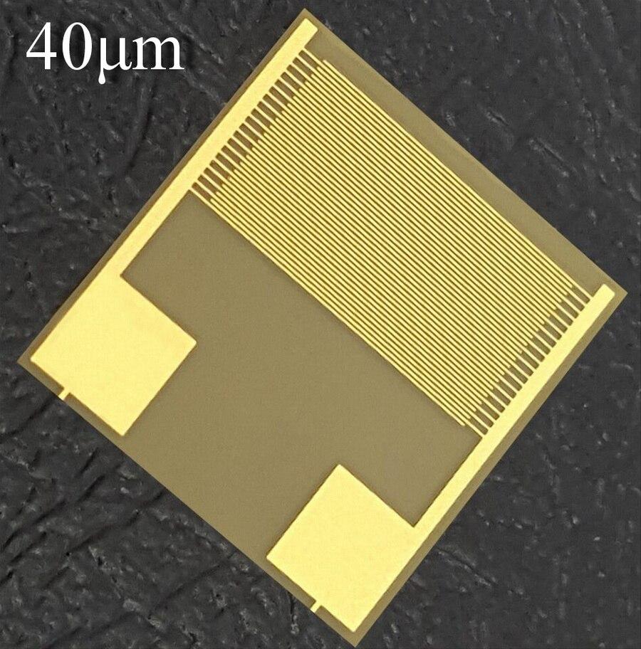40micron Flexible Interdigital Electrode PI Gas-sensitive Moisture-sensitive Biosensor Chip Capacitor Array Smart Wear