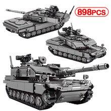 Ville militaire WW2 bataille principale char modèle blocs de construction créateur arme technique armée Chariot soldat briques jouets pour enfants
