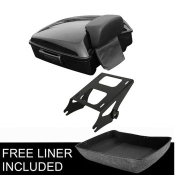 Motorcycle Chopped Trunk Backrest Pad Mounting Rack For Harley Tour Pak Touring Road King Road Glide Street Glide 2014-2019