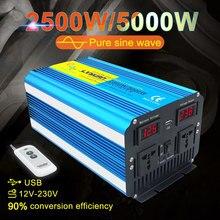 5000w Volle PowerWireless Fernbedienung Große Power Inverter 12 v 220 v Reine Sinus Welle Inverter Conversor 12 v solar Für Auto Ac