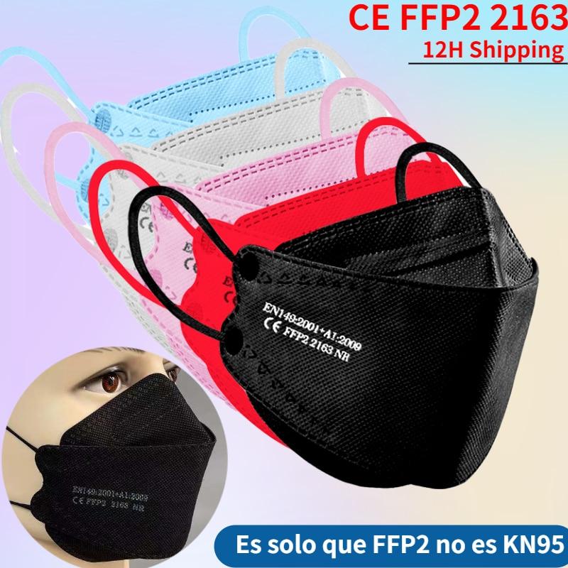 Mascarillas FPP2 ,fpp2 approved fish Masks Black mask Respiratory Mask ffp2 kn95 Mouth mask,reutilizable ffp 2mask,mask ffpp2