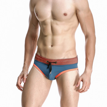 Summer New Style Men Triangular Swimming Trunks Men Sexy Solid Color Swimming Trunks