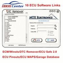 10 ECU программное обеспечение связывает DTC для удаления ECM титановые Winols для KESS V2 KTAG ECU Safe DPF/EGR/FLAP+ CRACK Garage Database программное обеспечение ссылка