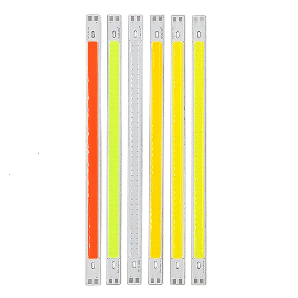 200x10mm 12V LED COB Bulb LED Bar Lights 10W 20CM Strip For Auto Cars Decor DRL Lights Work Lamp Readling Bulb DIY DC12V 1000LM