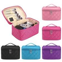 1PC Cosmetic Bag Fashion Portable Large Capacity Waterproof Make Up Organizer Multi-function Zipper Handbag Wash
