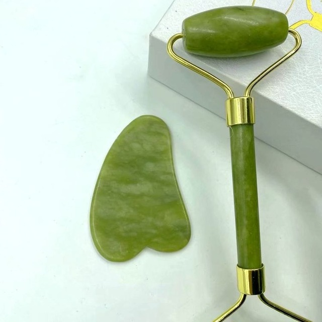 Natural Jade Massage Roller Guasha Board SPA Scraper Stone Facial Anti-wrinkle Treatment Body Facial Massager Health Care Tools 3