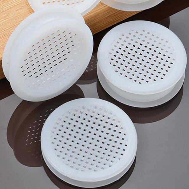 10set doppelseitige kunststoff Air Vent Abdeckungen 58mm runde mesh loch Jalousie Belüftung für schrank schuh schrank möbel zubehör