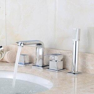 4PCS Bathtub Faucet Bathroom B