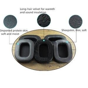 Image 2 - Almohadillas suaves de piel de oveja, almohadillas para los oídos de espuma viscoelástica, cojines para investigación acústica, auriculares para AR H1