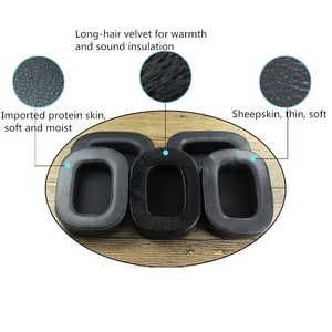 Image 2 - Soft Sheepskin Memory Foam Earpads Ear Pads Cushions for acoustic research AR H1 Headphones