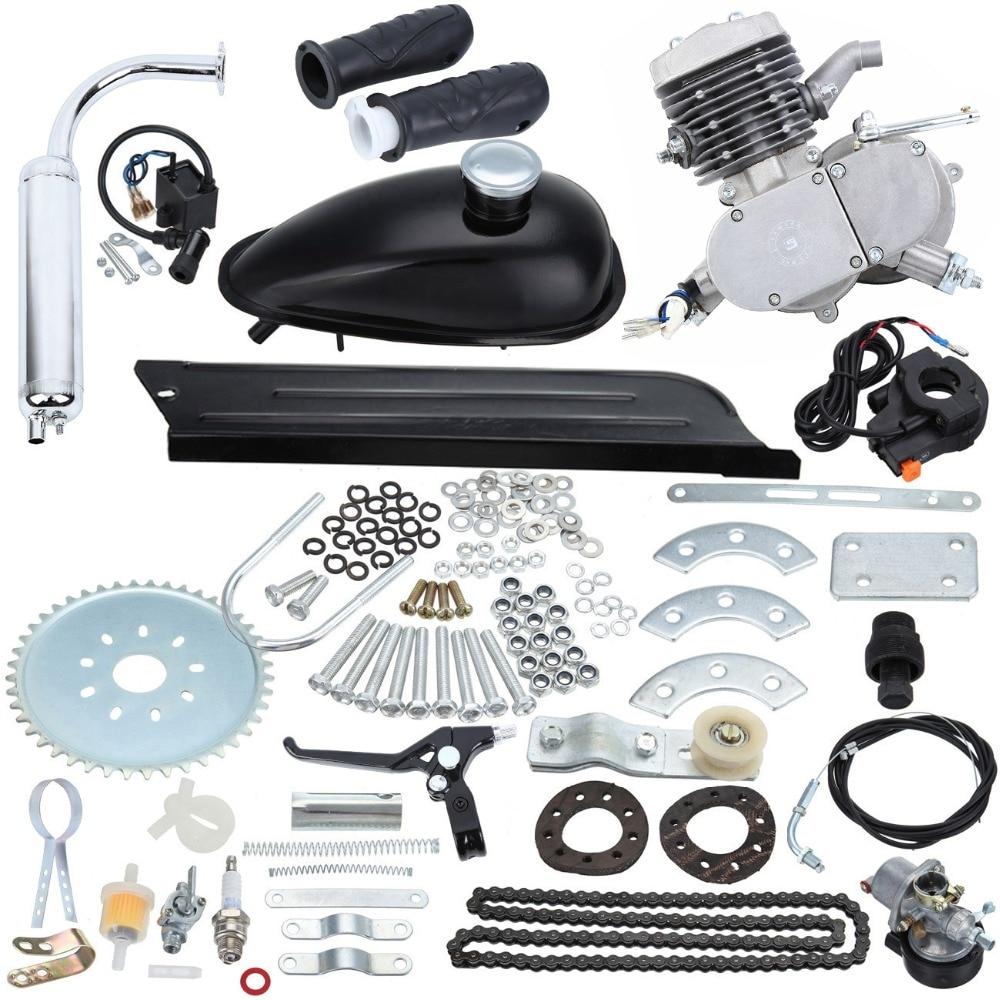 80cc 2 Bicycle Motorcycle Stroke Gas Engine Kit For DIY Electric Bicycle Mountain Bike Pocket Bike Complete Engine Set Motor Kit