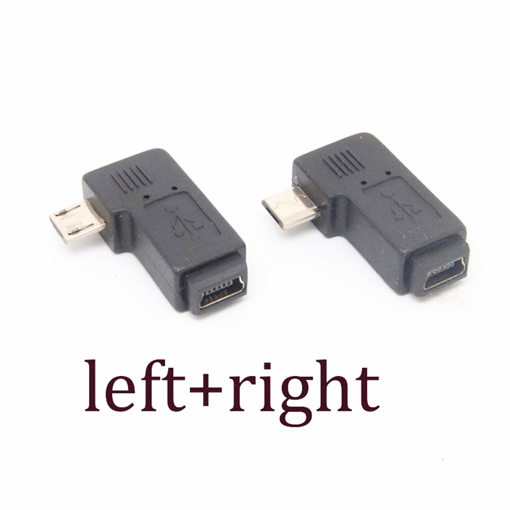 Micro USB Right Angle Adapter Type A B Male To Mini USB Female NEW 90 Degrees Left Angle Adapter