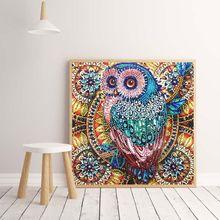 Diamond Painting Diy Animal Owl Special-Shaped Bright Diamond Home Decoration Painting Handmade Diy