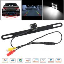 CMOS Waterproof Car Rear View Reverse Backup Camera Night Vision Parking Reversing Assistance with Light New free shipping free shipping brand new 4 pin 800tvl cmos ir night vision waterproof car rear view reverse backup camera for