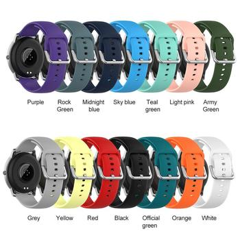 solid color Smart Watch Buckle Strap Sports 22mm Soft Silicone Straps For Xiaomi Haylou Solar LS05 Buckle Strap Sports image