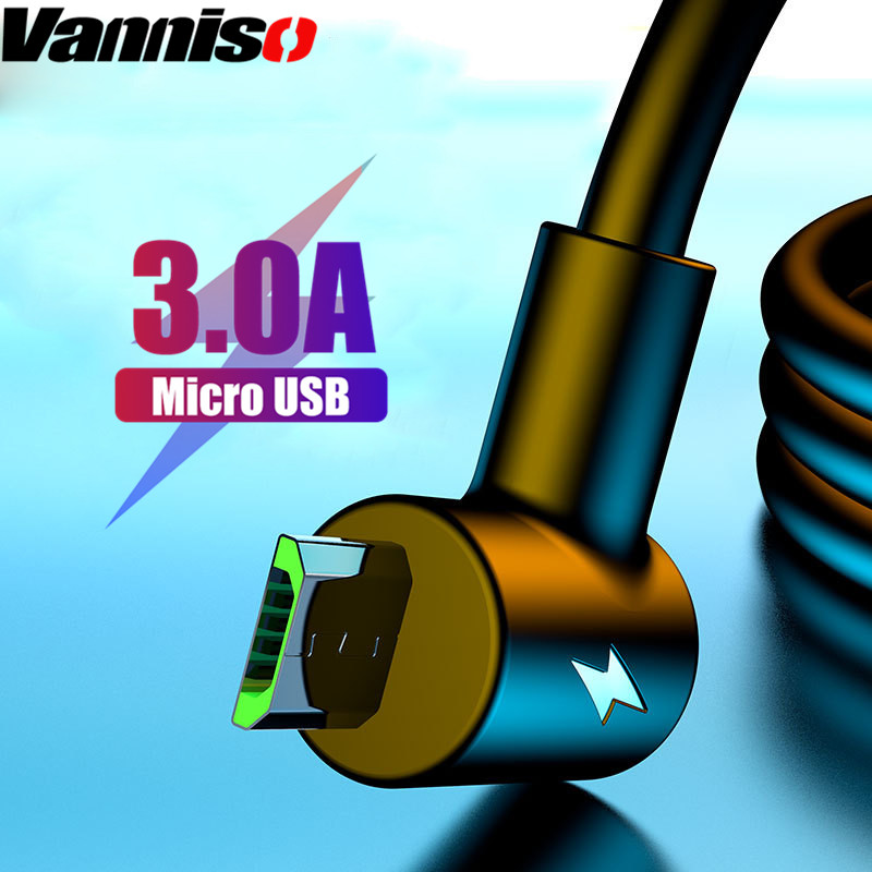 Vanniso Micro USB Cable 3A fast charging for Samsung S7 S6 Xiaomi note5pro Sony Android Mobile phone cables for iphone X 7 8plus in Mobile Phone Cables from Cellphones Telecommunications
