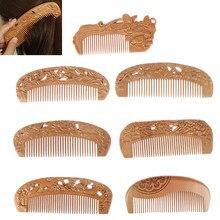 8Styles bois de pêche naturel et bois de bambou sain Massage sans statique cheveux peigne en bois soins de santé nouveau Design peigne en bois