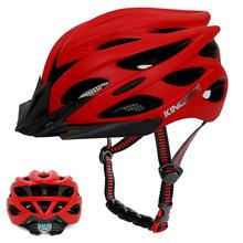 KINGBIKE kask rowerowy kask rowerowy tylne światło matowy czarny czerwony MTB do roweru szosowego i górskiego kask integralnie formowany hełm ochronny tanie tanio (Dorośli) mężczyzn J629 235g 20 Lekki kask Integrally molded Helmet Road race TT MTB cross-country race Track race