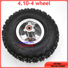 4.10 4 Inner Tube Outer Tire with 4 Inch Wheel Rim for 49cc Mini Quad Dirt Bike Scooter ATV Buggy 4.10/3.50 4 Tyre Wheel