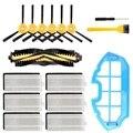 16 упаковок Аксессуары Набор Для Ecovacs Deebot N79S N79 роботизированные фильтры для пылесоса  боковые щетки  основная щетка  основной фильтр Acc