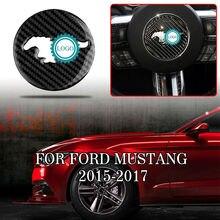 Pcmos накладка на руль из настоящего углеродного волокна для Ford Mustang- аксессуары для салона рулевые Чехлы Новинка